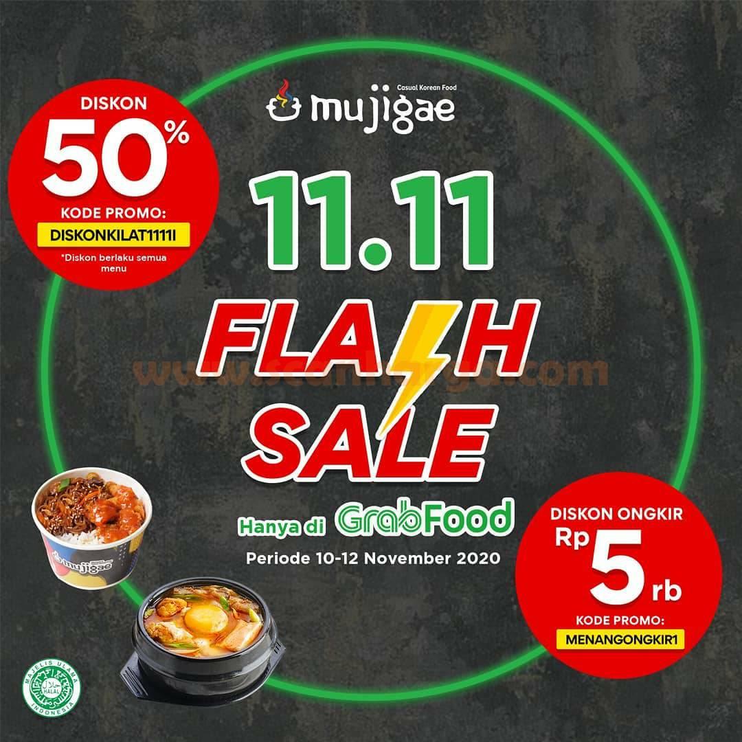 Mujigae Promo 11.11 Flash Sale Diskon 50% hanya di Grabfood