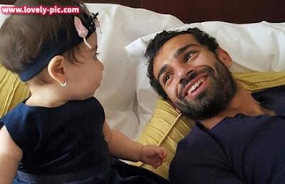 صور محمد صلاح مع بنته