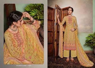 Mumtaz Arts Nazakat E Aari Work Jam Satin Salwar Kameez Wholesale