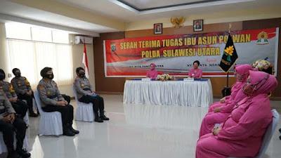 Tugas Ibu Asuh Polwan Polda Sulut Berpindah Ke Ny Shinta Nana Sudjana