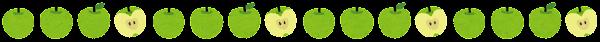 青りんごのライン素材