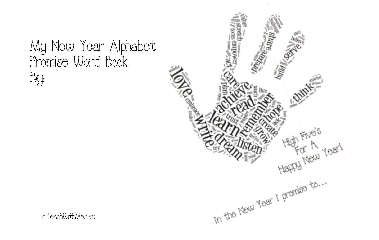 Happy New Year Word Art Activities