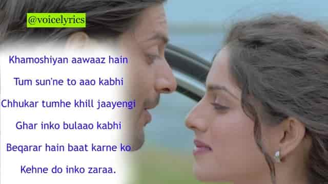 Khamoshiyan Lyrics In Hindi