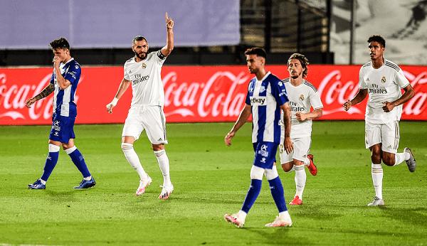 اهداف مباراة ريال مدريد وديبورتيفو ألافيس 2/0 فى الدورى الاسبانى 10-7-2020