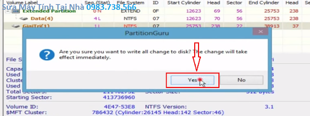 Phục hồi dữ liệu khi Ghost nhầm - H13