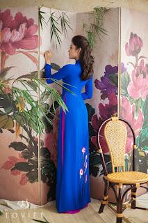 Á hậu Huyền My khoe nét thanh xuân với áo dài Eo Việt