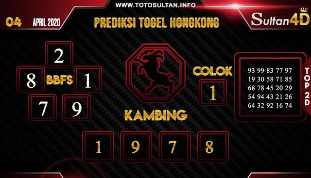 PREDIKSI TOGEL HONGKONG SULTAN4D 04 APRIL 2020