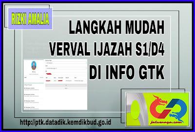 Langkah Mudah Verval Ijazah D4/S1 Di Info GTK
