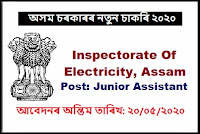 Inspectorate Of Electricity, Assam Job