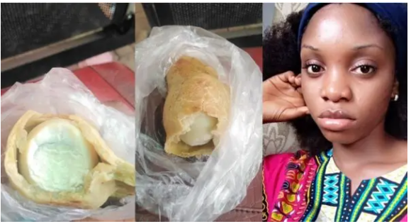 Lady shares how she bought a meat pie only to find an inside (Pictures)
