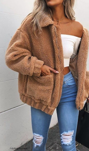 outfit sueter cafe