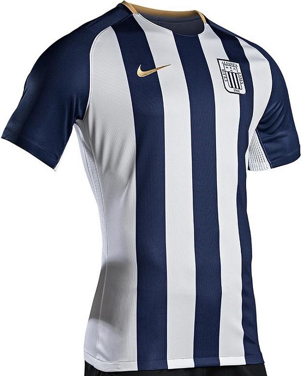 9136cd1f78 A Nike apresentou os novos uniformes que o Alianza Lima usará no Campeonato  Peruano e na Copa Libertadores em 2018. O modelo titular possui faixas  verticais ...