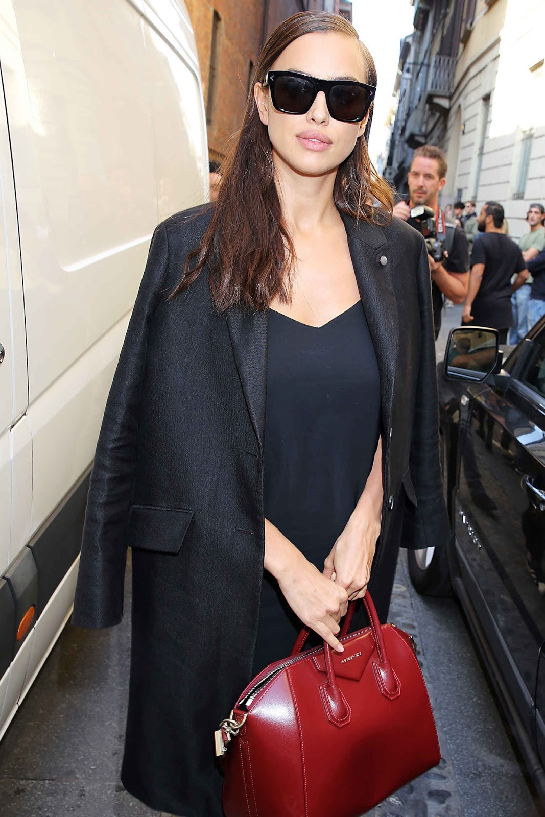 Irina Shayk Outside the Bottega Veneta Show