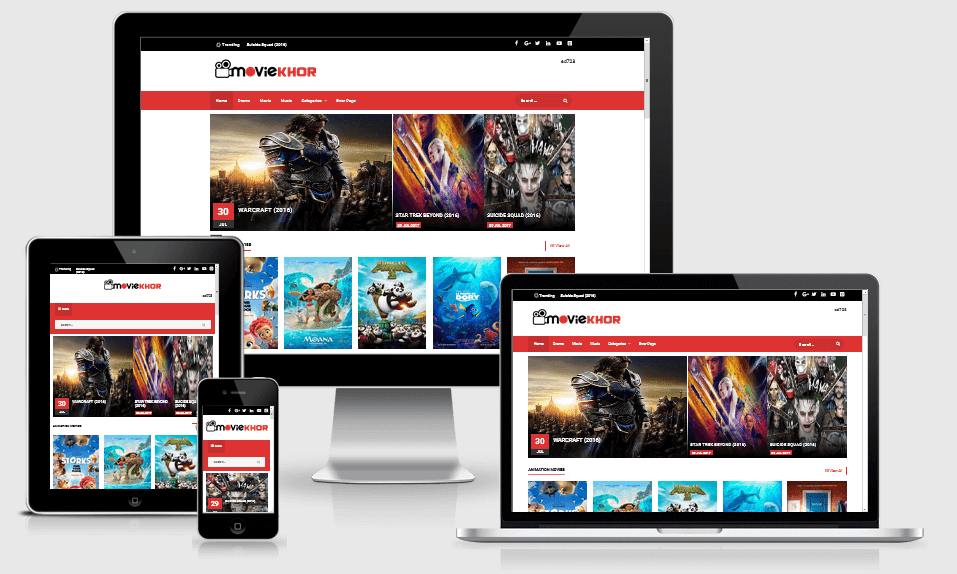 MovieKhor - Responsive Movie Blogger Template