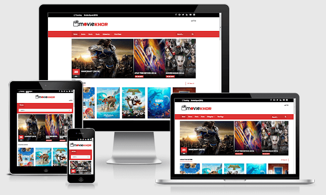 MovieKhor Responsive Movie Blogger Template Free Download Full Version