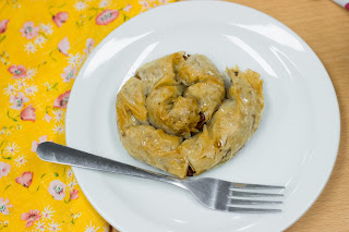 Greek baklava pumpkin filo pastry swirl, Secret Squirrel Supper Club, Cardiff, www.imogenmolly.co.uk