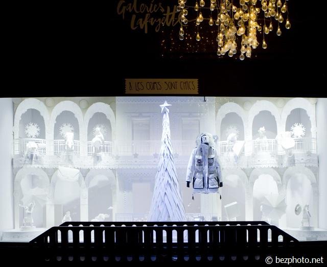 рождественские витрины в париже 2016