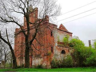 Ruiny kościoła w Kisielinie