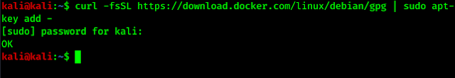 gpg key adding for docker
