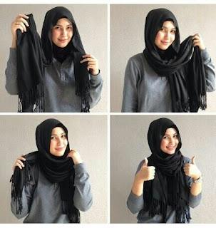 Cara Pakai Hijab Pashmina Gaul