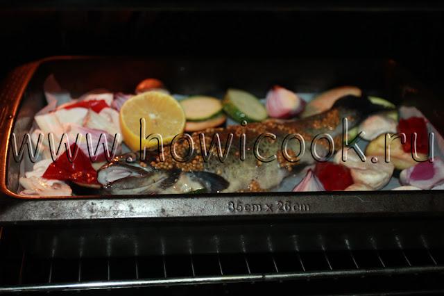 рецепт форели с овощами в духовке с пошаговыми фото