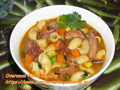 Pinoy Ham Bone Macaroni Soup