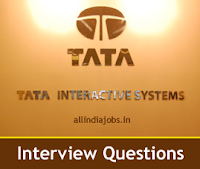 Tata Interactive Systems Interview Questions