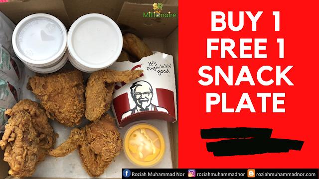 Buy 1 Free 1 KFC Snack Plate