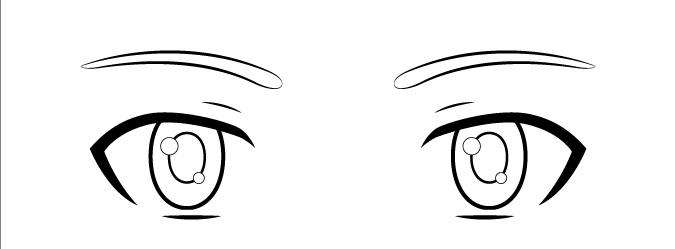Gambar detail mata anak anime