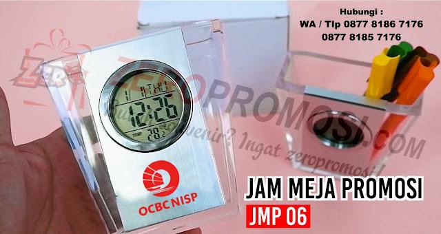 Jual Souvenir Jam Meja Promosi Jmp 06, Merchandise jam meja di Tangerang