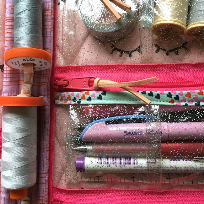 spool holder for everything in its place bag, sewing bag