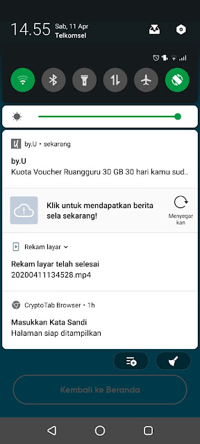 Buka SMS Notifikasi By.u Telkomsel