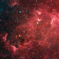 The North America Nebula in Infrared