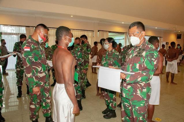 Korem 172/PWY Jaring 244 Calon Tamtama TNI-AD