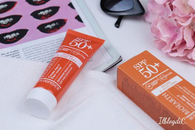 Crema solare viso Bioearth