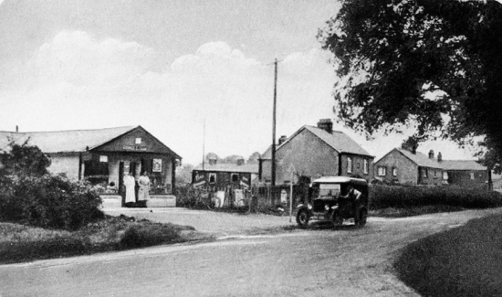 Photograph of North Mymms Stores, Dixons Hill Road 1927. Closed 1981 and replaced by block of flats - Welham Court