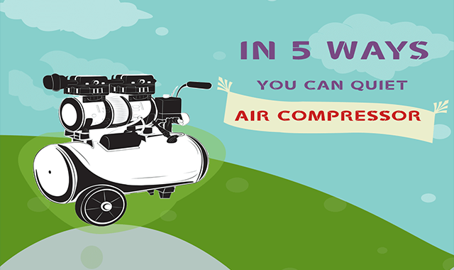 In Multiple Ways: How To Quiet Air Compressor #infographic