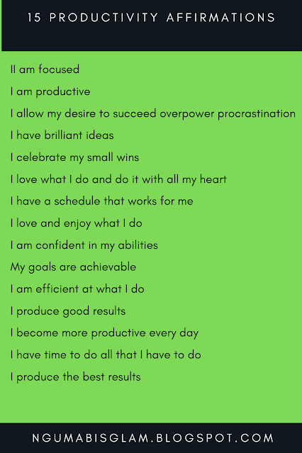 15 Productivity Affirmations