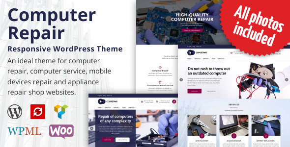 ComRepair - Computer Repair Services WordPress Theme