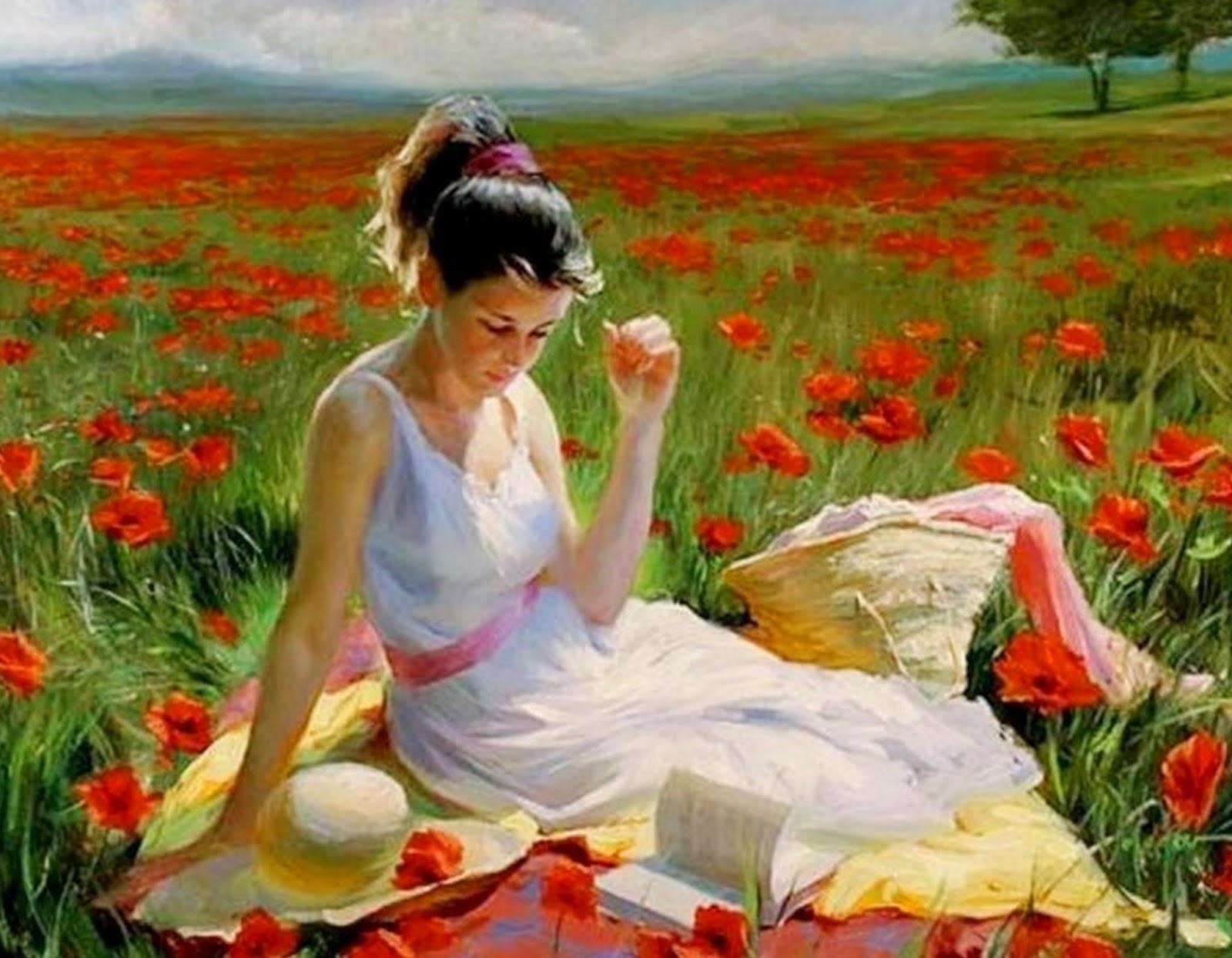 Pinturas cuadros lienzos flores y figurativo en pinturas - Oleos de jardines ...