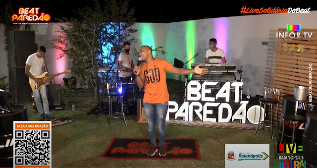 Live beneficente da Banda BEAT PAREDÃO de Baianópolis no Youtube; confira