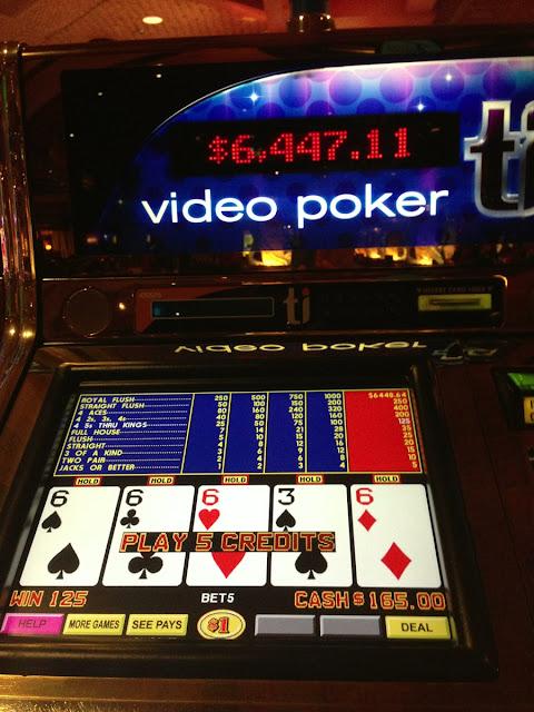 Dealt Quad on Video Poker