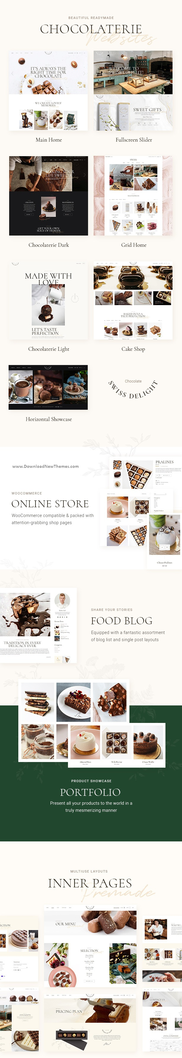 Chocolate & Cake Shop WooCommere WordPress Theme