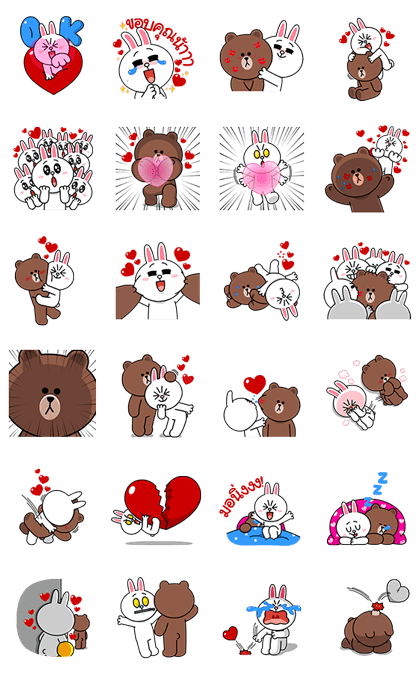 Brown & Cony's Heaps of Hearts!