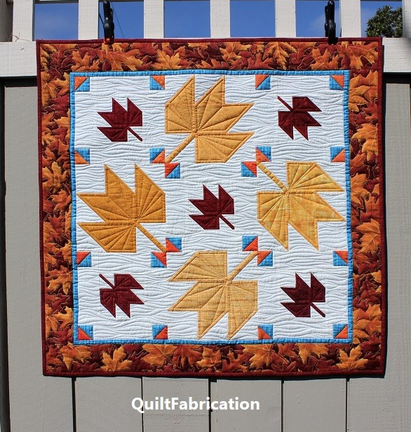 Fall Leaves wall hanging by QuiltFabrication