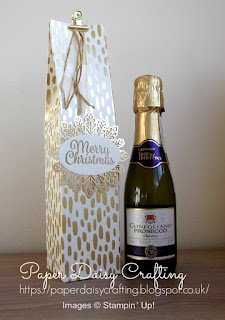 Stampin' Up! Bundle of Love Mini Prosecco gift bag