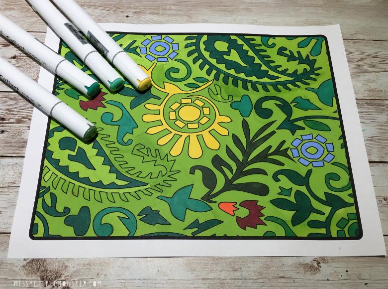 jungle craft background