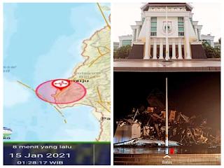 Gempa M6 2 Berpusat Di Majene Dirasakan Warga 5 Hingga 7 Detik Sumatrazone