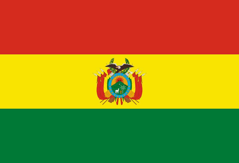 Logo Gambar Bendera Negara Bolivia PNG JPG ukuran 800 px