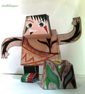 paper toy los elua graficos